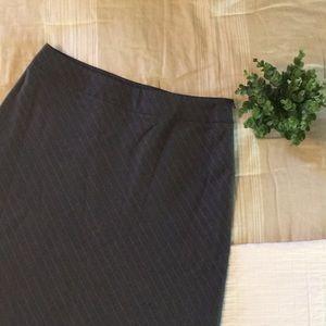 Covington Gray Pin Stripe Suit Skirt